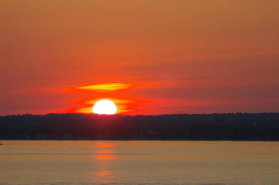 Sun Photograph - Westbrook Summer Sunset by Marjorie Tietjen