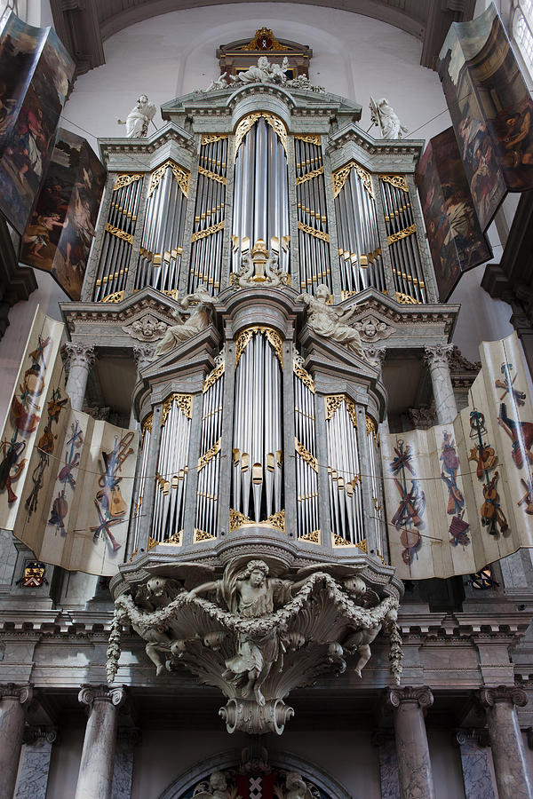 Westerkerk Photograph - Westerkerk Organ In Amsterdam by Artur Bogacki