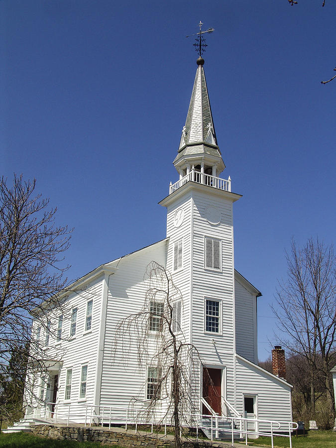 New York Photograph - Westerlo Church by Eric Swan