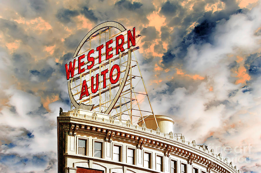 Western Auto Sign Downtown Kansas City 2 Photograph By Andee