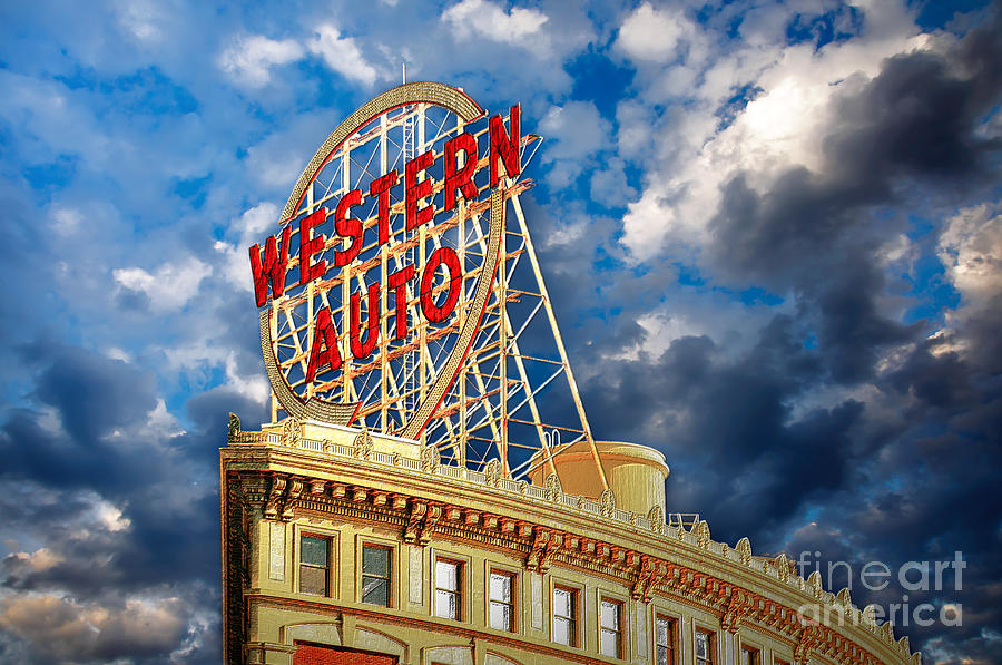 Western Auto Sign Downtown Kansas City Photograph By Andee Design