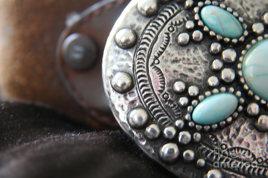 Buckles Photograph - Western Belt Detail by Lynn England