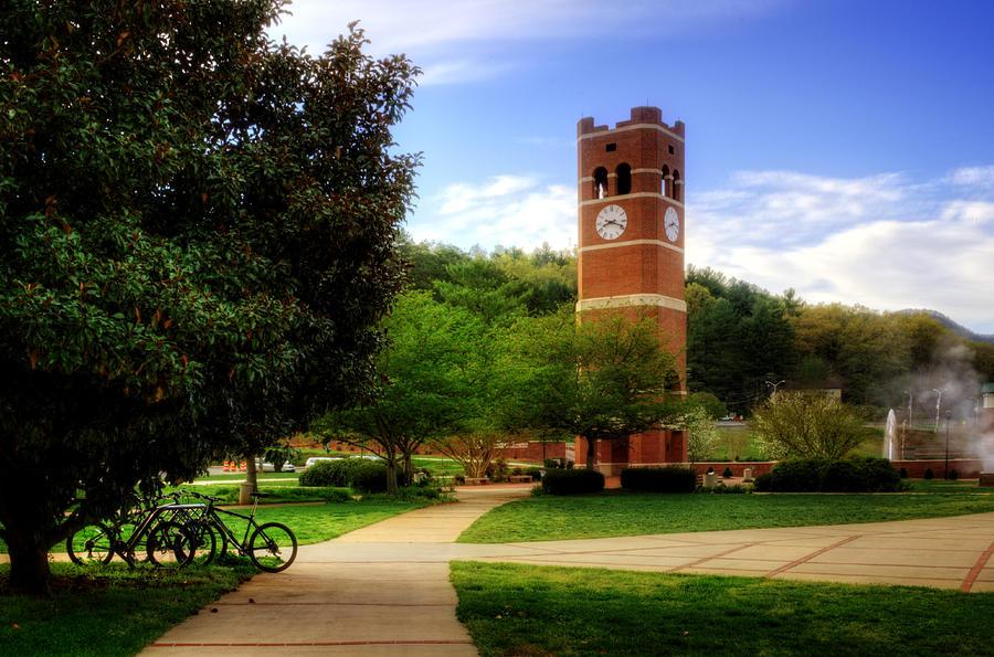 Western Carolina University Photograph - Western Carolina University Alumni Tower by Greg and Chrystal Mimbs