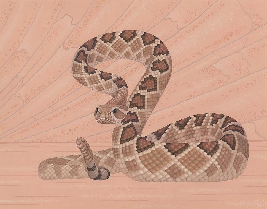 Painting Painting - Western Diamondback Rattlesnake by Nathan Marcy
