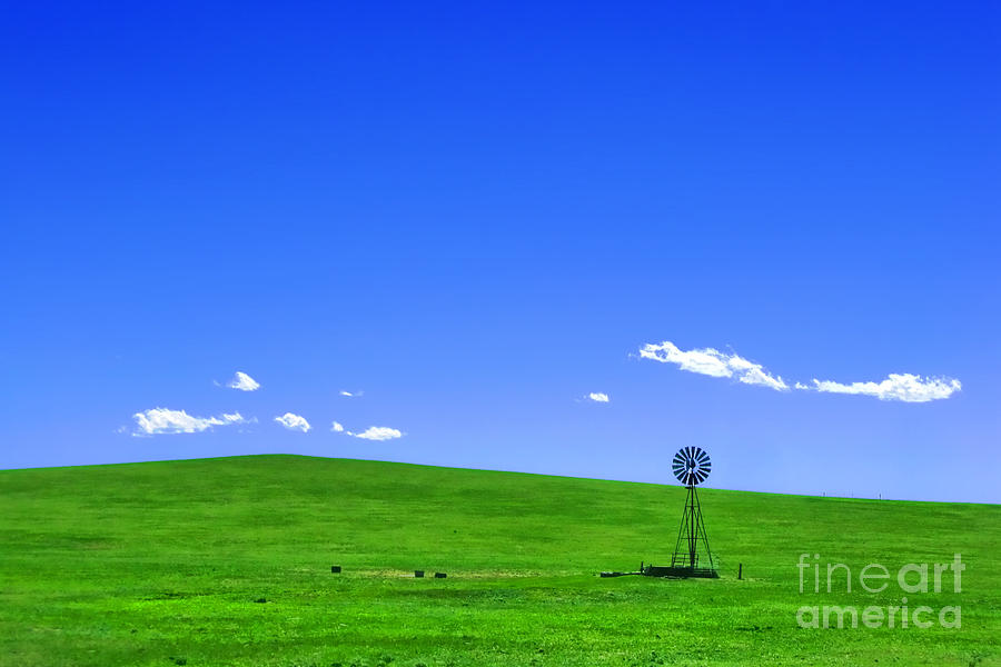 Prairie Photograph - Western Hill  by Olivier Le Queinec