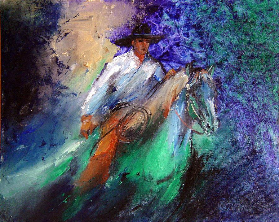 Painting Painting - Western by Nelya Shenklyarska
