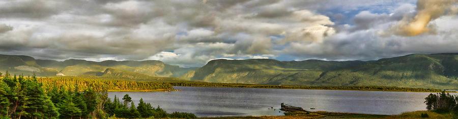 Newfoundland Photograph - Western Newfoundland Panorma by Steve Hurt