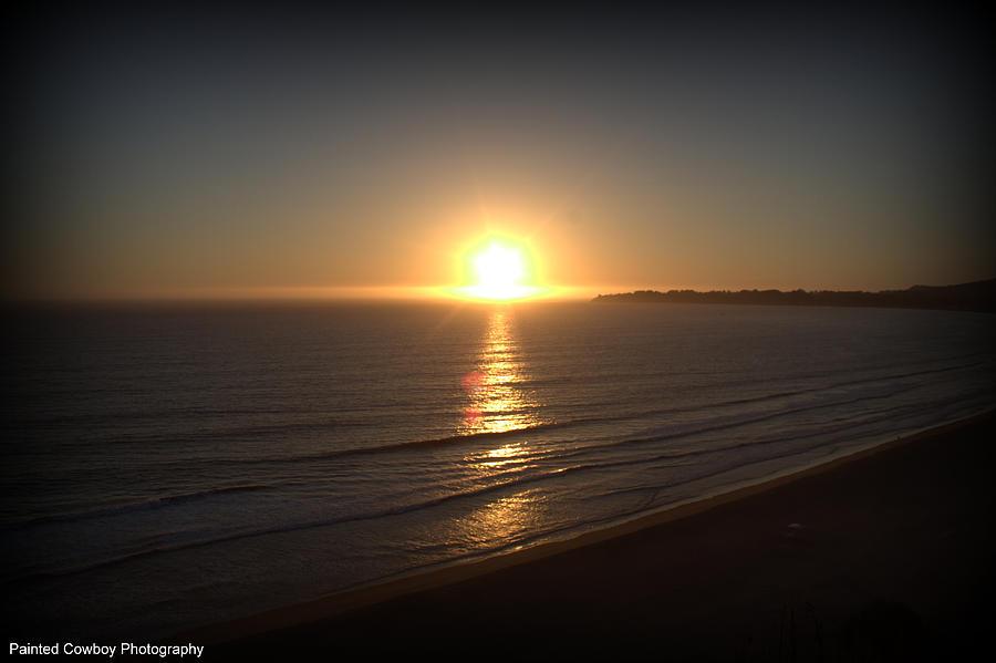 Ocean Photograph - Western Sunset  by Daniel Jakus