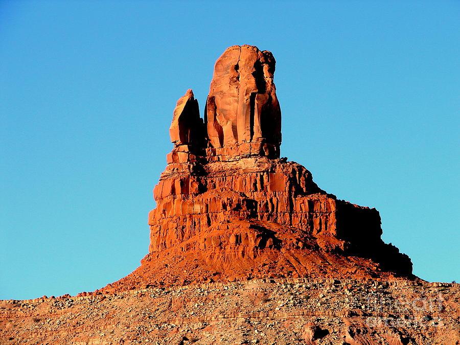 Western Desert Photograph - Western Usa Rock by John Potts