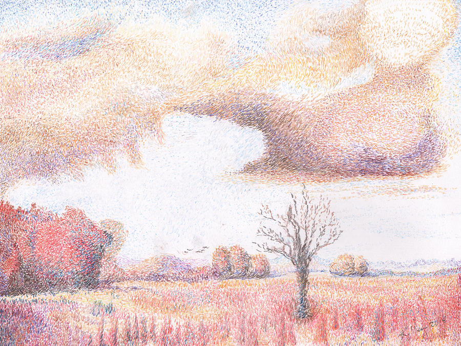 Western Vista - Rain Painting by William Killen
