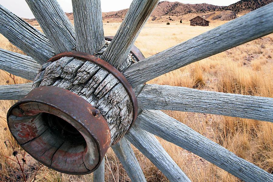 Wagon Wheel Photograph - Western Ways by Darryl Wilkinson