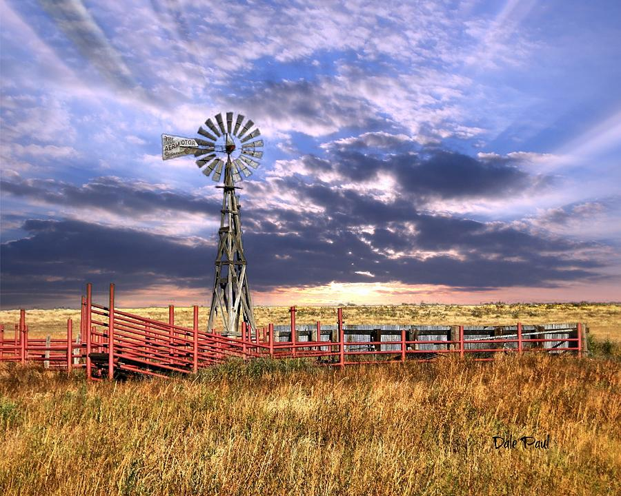 Windmill Photograph - Western Windmill by Dale Paul