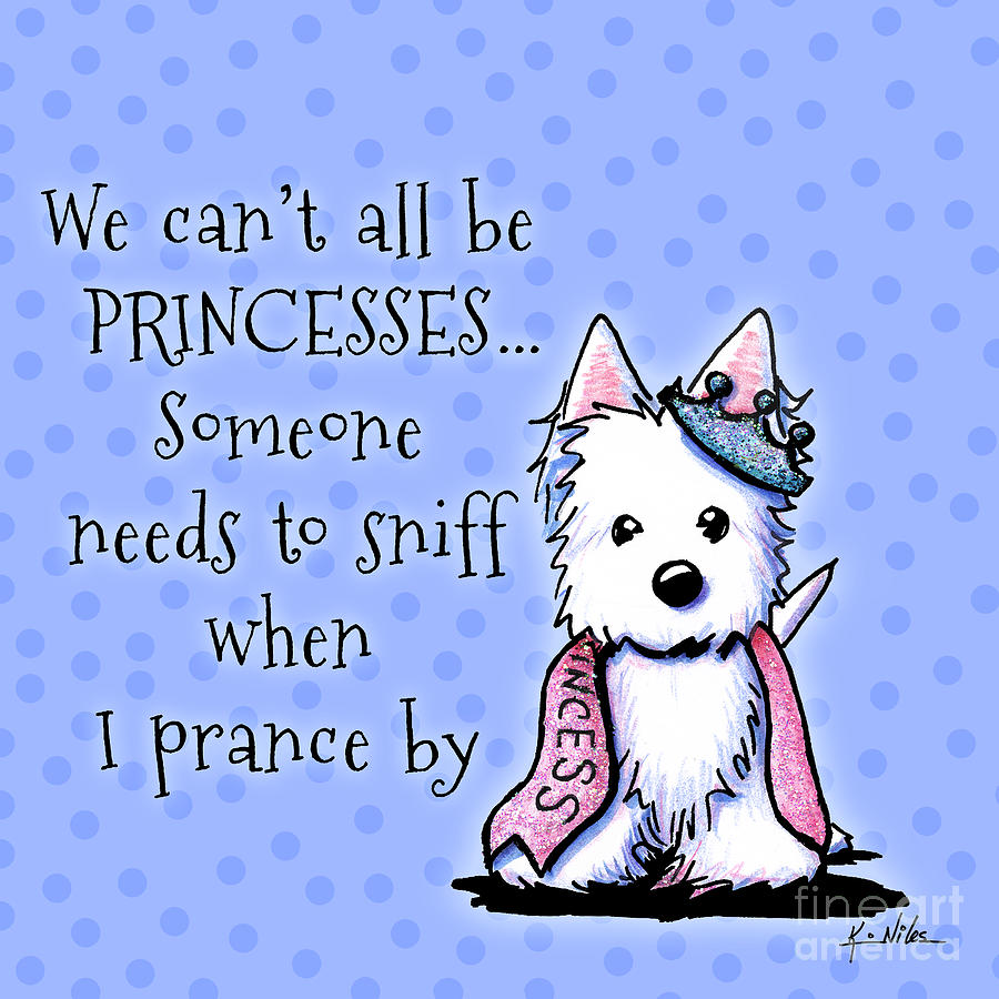 Westie Digital Art - Westie Princess by Kim Niles