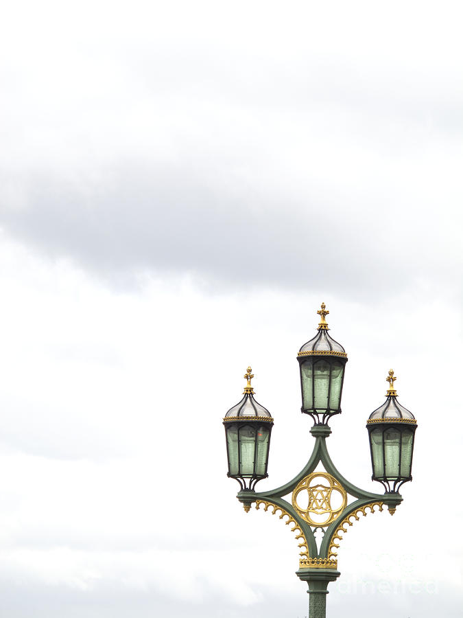 London Photograph - Westminster Bridge Lamppost by Ann Horn