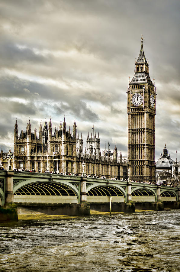 Houses Of Parliament Photograph - Westminster by Heather Applegate