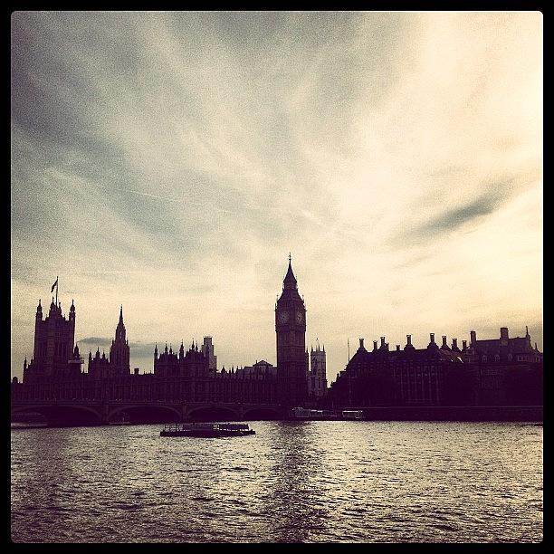 Westminster Photograph - #westminster #london #skyline by Emma Dennis