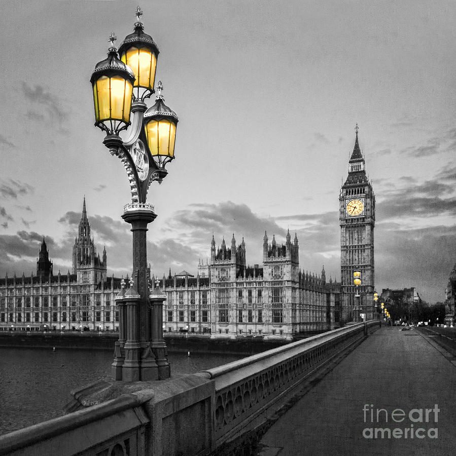 Westminster Photograph - Westminster Morning by Colin and Linda McKie