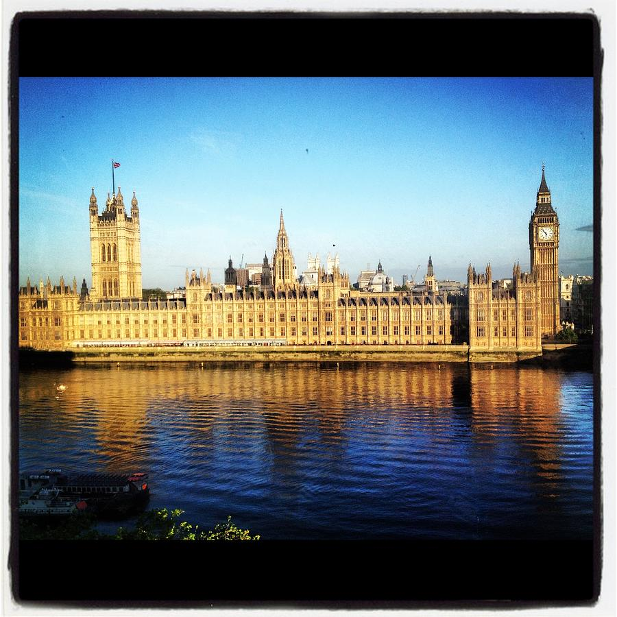 Canvas Prints Photograph - Westminster Reflections by Maeve O Connell