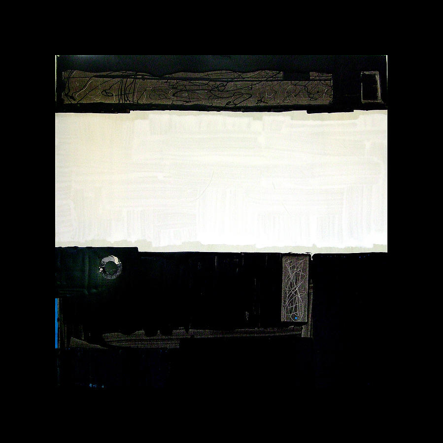 Landscape Painting - Westside Harbour Black Study I by Mark Fearn