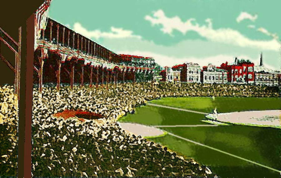 Baseball Painting - Westside Park Baseball Stadium In Chicago Il In 1914 by Dwight Goss