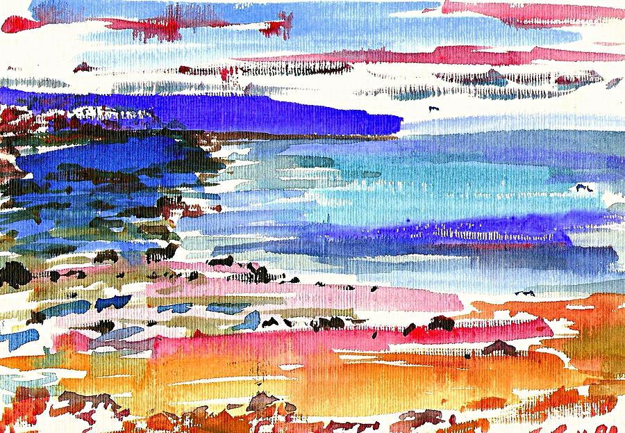 Sea Painting - Westward Ho Shore by Anthony Fox
