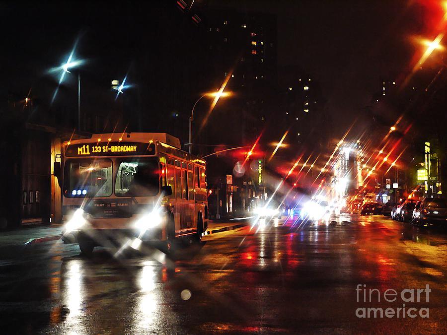 City Photograph - Wet City 4 by Sarah Loft