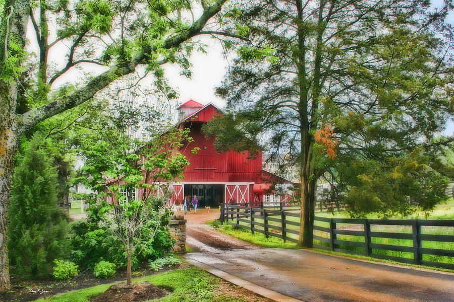 Rain Photograph - Landscape - Barn - Wet Day On The Farm by Barry Jones