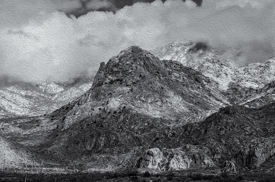 Wet Mountain Snow No.1 Photograph