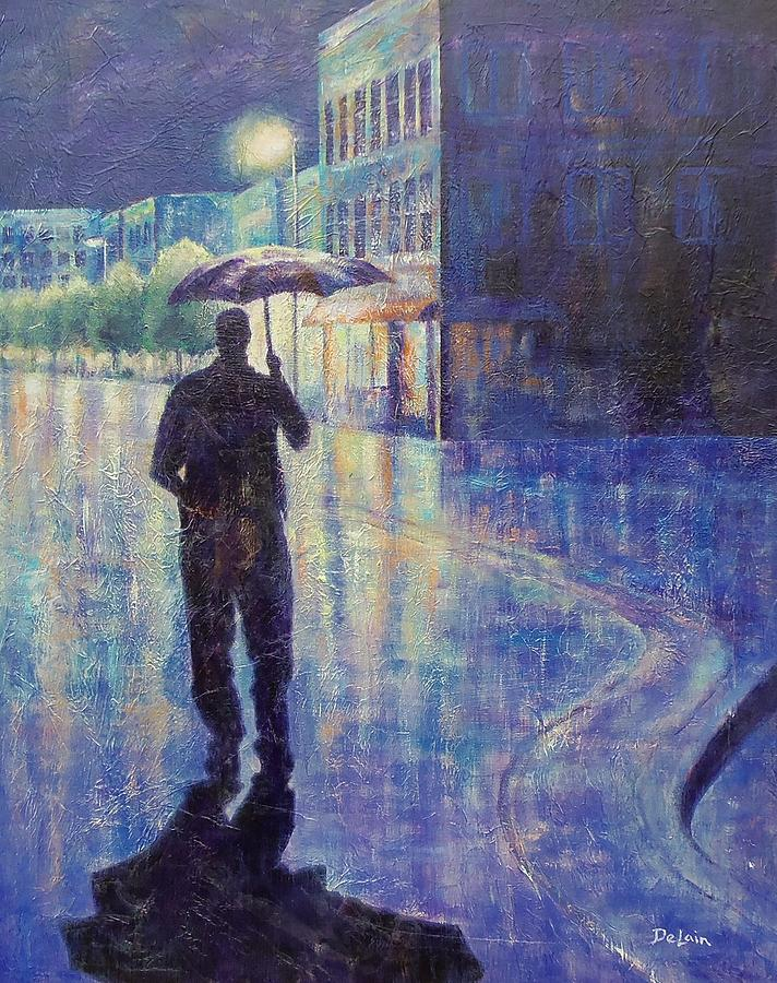Sue Delain Painting - Wet Night by Susan DeLain