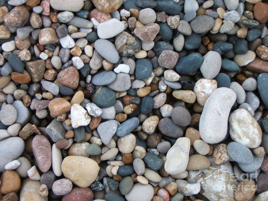 Pebbles Photograph - Wet Pebbles by Margaret McDermott