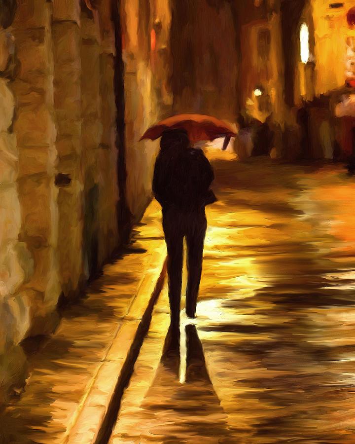 Wet Painting - Wet Rainy Night by Michael Pickett