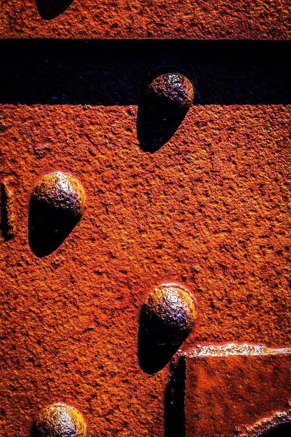 Abstract Photograph - Wet Rivets  by Bob Orsillo