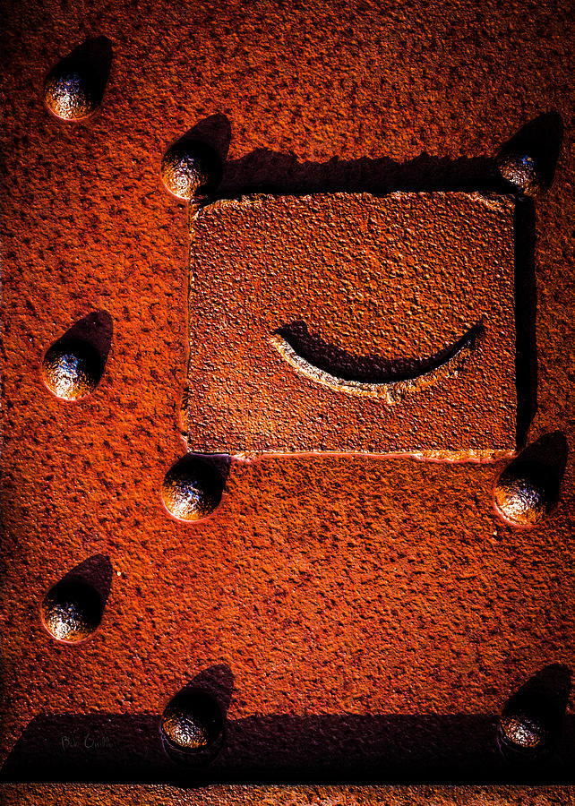 Industrial Photograph - Wet Rivets Number Nine by Bob Orsillo