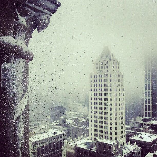 Window Photograph - Wet Snow by Jill Tuinier