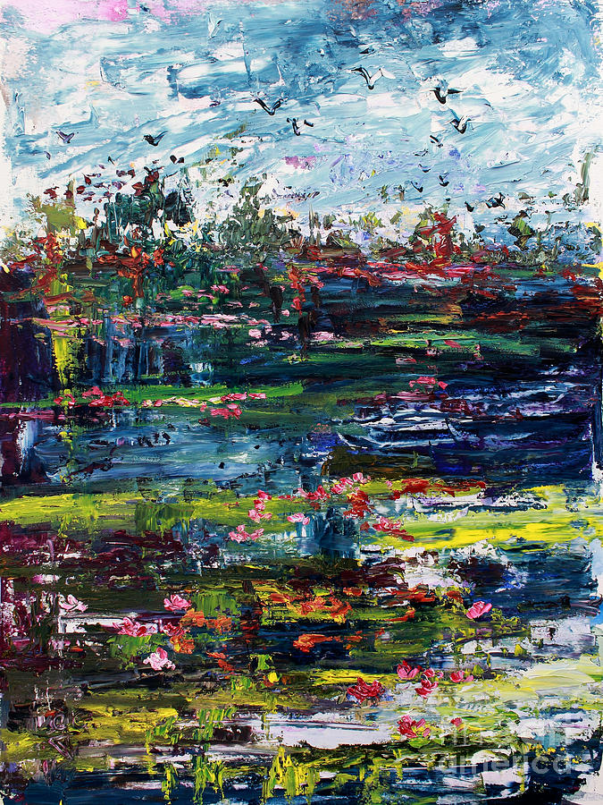 Wetland Impressions Oil Painting Painting by Ginette Callaway
