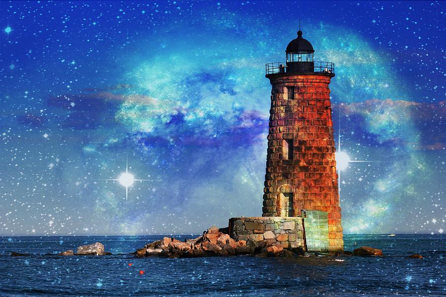 Atlantic Ocean Photograph - Whaleback Lighthouse by Sheryl Bergman
