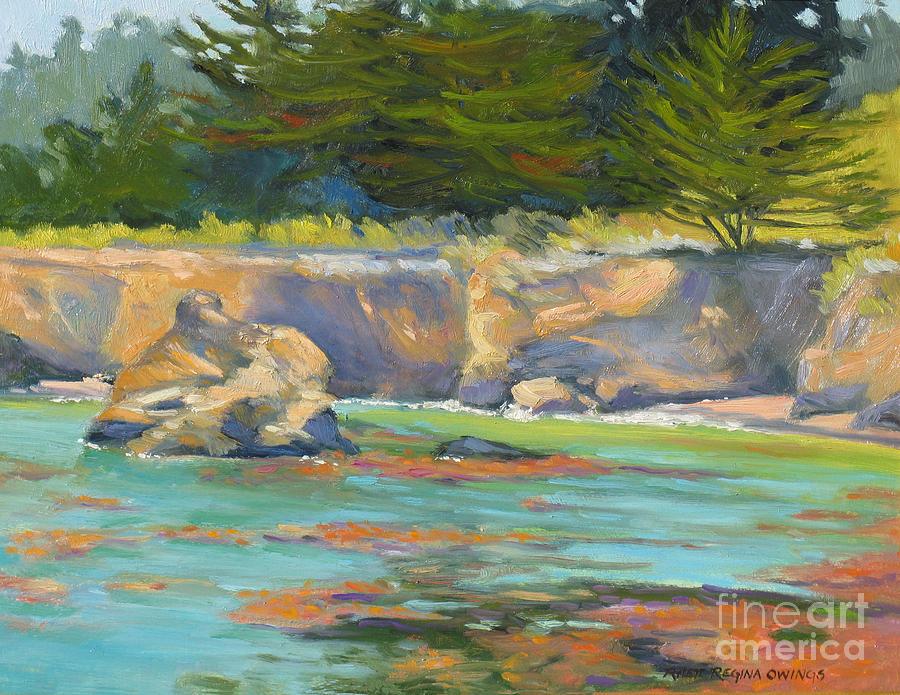 Point Lobos Painting - Whalers Cove Point Lobos by Rhett Regina Owings