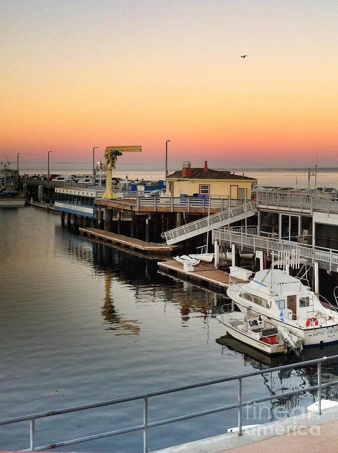 Wharf #2 In Monterey At Sunset Photograph