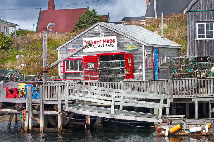 Wharf Photograph - Wharf Hags Peggys Cove by Betsy Knapp