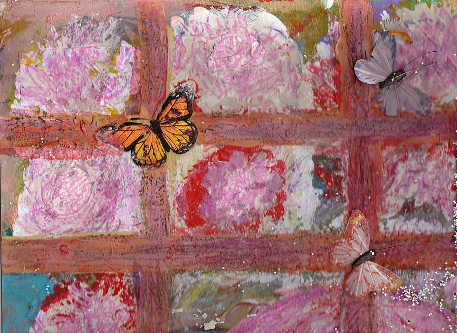 What Are These Butterflies Doing On The Inside?  Mixed Media by Anne-Elizabeth Whiteway