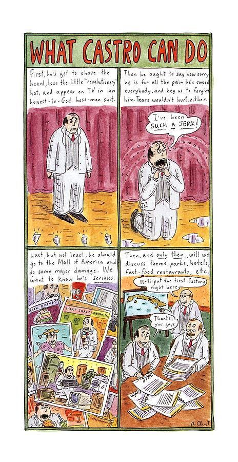 What Castro Drawing by Roz Chast