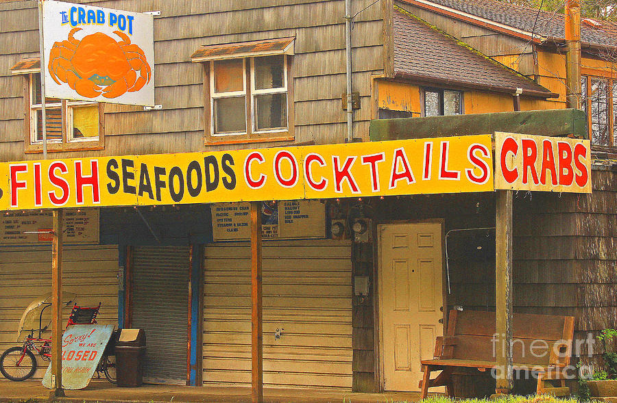 Crab Photograph - What Else Could You Want In Lincoln City Oregon by Kris Hiemstra