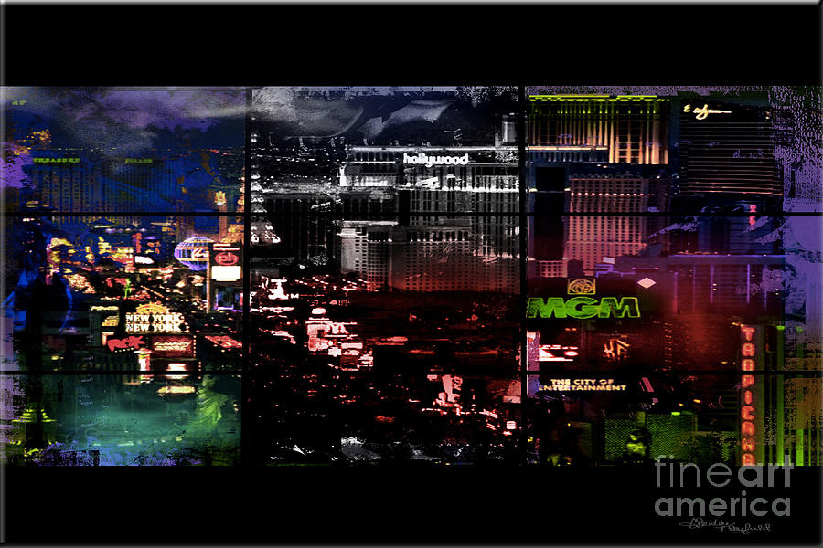 Las Vegas Mixed Media - What Happens In Vegas... by Christine Mayfield