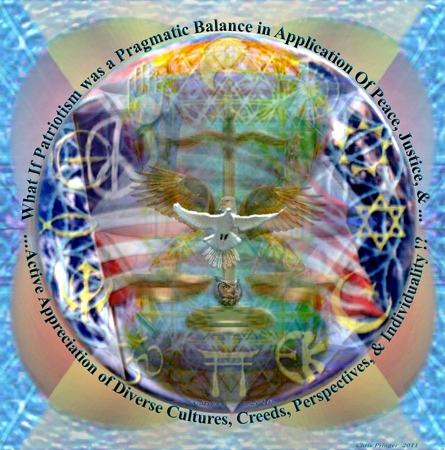 Balance Digital Art - What If Balance Was Patriotism by Christopher Pringer
