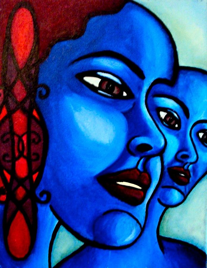Blue Painting - What Is An Individual? by India Samara