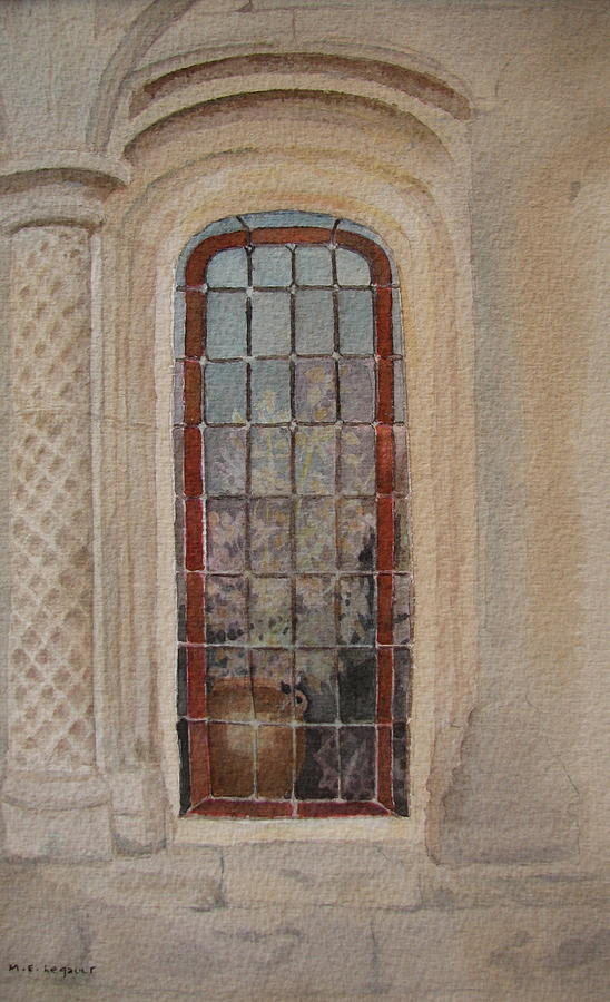 Window Painting - What Is Behind The Window Pane by Mary Ellen Mueller Legault