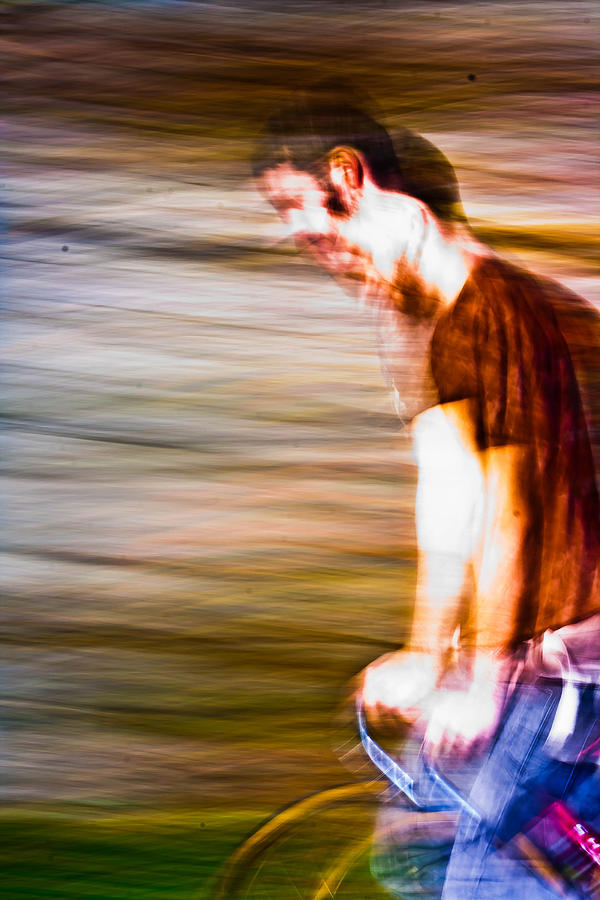 Motion Blur Photograph - What Is He Thinking? by Dylan  Bouchard