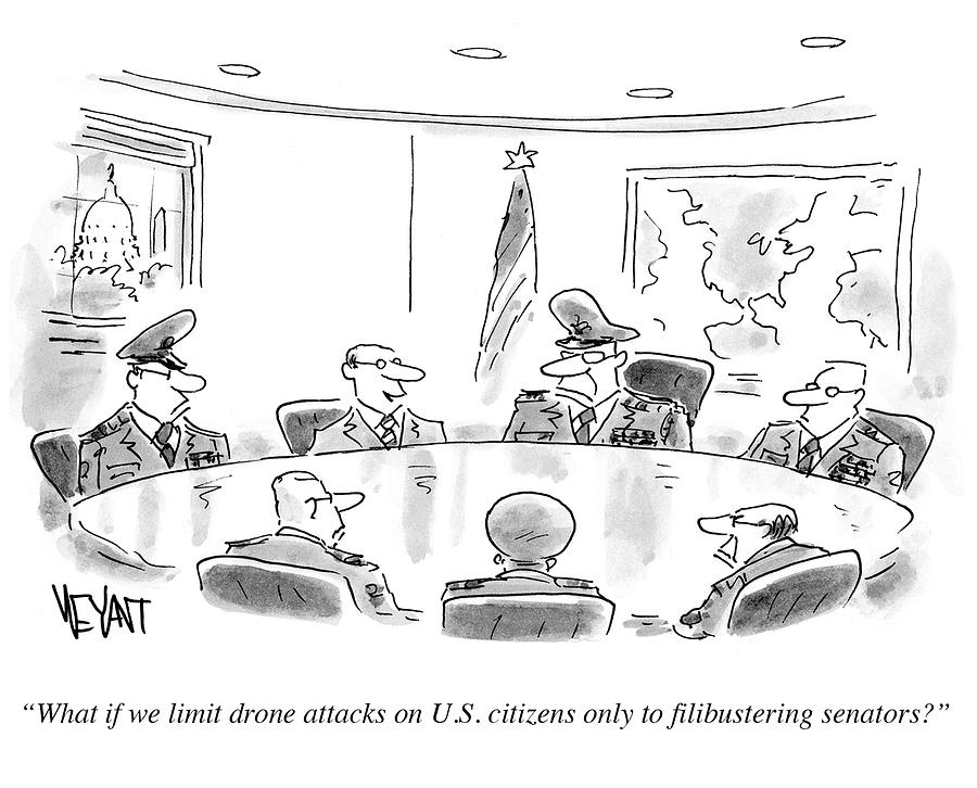 Cartoon Drawing - What Is We Limit Drone Attacks by Christopher Weyant