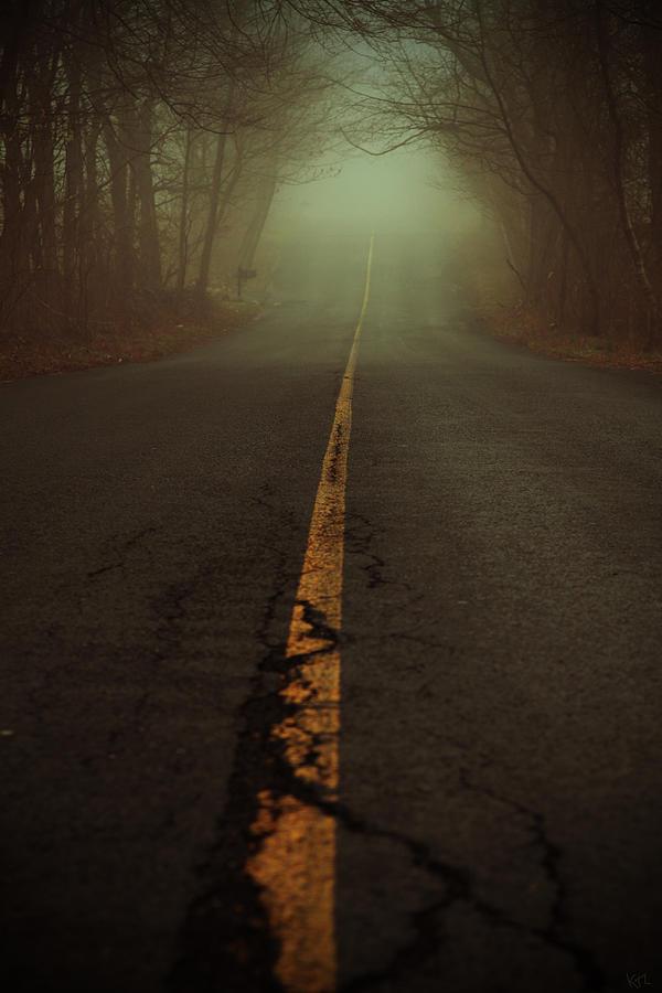 Fog Photograph - What Lies Ahead by Karol Livote