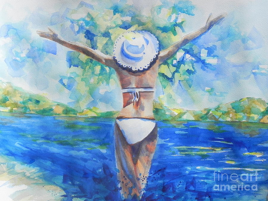 Watercolors Painting - What Lies Ahead Series Forgive by Chrisann Ellis